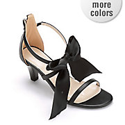 fabric bow ankle strap sandal by midnight velvet