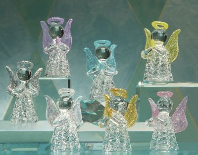 Set of 7 Glass Angels