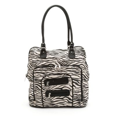 Metallic Zebra Carry-On