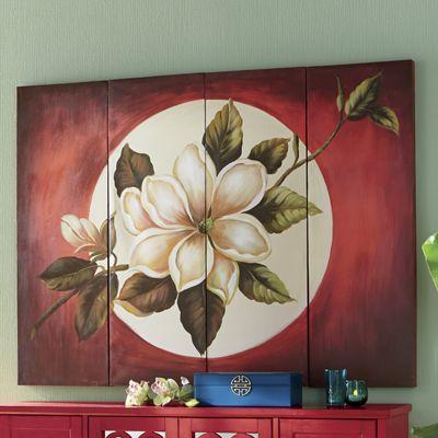 4-Piece Magnolia Moon Print Set