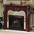 Mirrored Fireplace Mantel