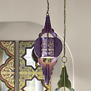 Purple Hanging Lamp