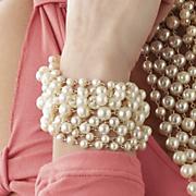 Faux Pearl Multichain Bracelet