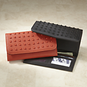 color studs trifold wallet