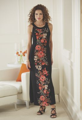 Floral Inset Maxi Dress