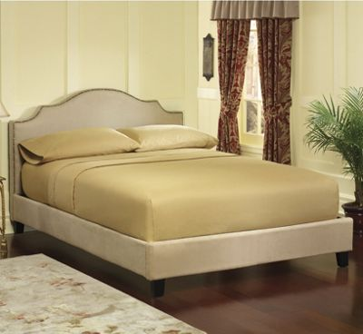 Nailhead Platform Bed