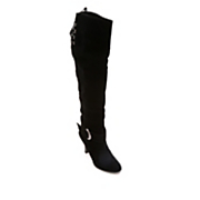 Midnight Velvet Over the Knee Boot