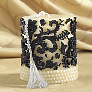Black Scroll Candle