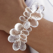 Faceted Drops Stretch Bracelet
