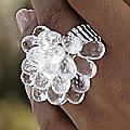 Briol/Acrylic Cluster Ring