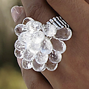 Faceted Drops Ring