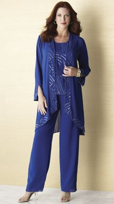 3-Piece Royal Beaded Pant Set