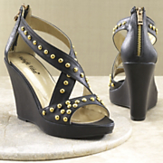 Midnight Velvet Studded Platform