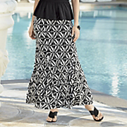 trocadero stamp print skirt