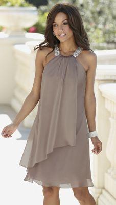 Satin Trapeze Dress
