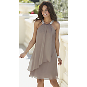 satin trapeze dress 6