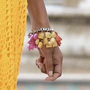 rainbow squares bracelet