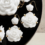 roses earrings