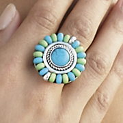 caribbean colors stretch ring