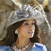 Feather Bow Hat