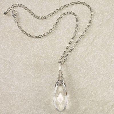 Briolette Droplet Pendant