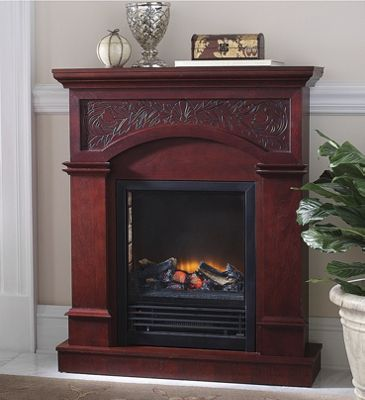 Floral Cherry Fireplace