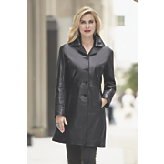 lambskin walking coat