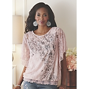 printed lace top 267