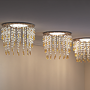 beaded recessed light cover