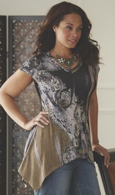 Scroll Sublimation Tunic by Midnight Velvet Style