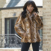 Faux Fur Patterned Jacket