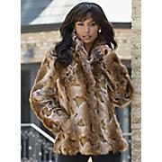 faux fur patterned jacket