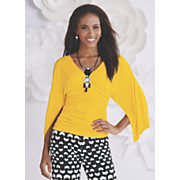 surplice ruched knit top by midnight velvet style