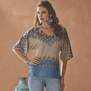 ikat studded top by midnight velvet style