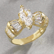 Marquise Baguette Ring