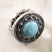 Faux Turquoise Stretch Ring