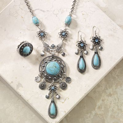 Faux Torquoise Jewelry
