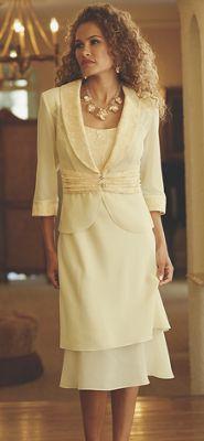 Tamara Lace Trim Jacket Dress