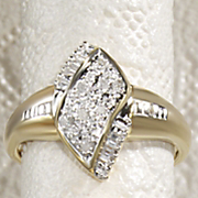diamond marquise cluster ring