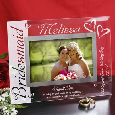 Personalized Bridesmaid Glass Picture Frame