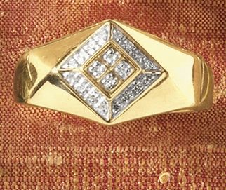 Ring, Men's Double-Diamond