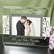 Mr And Mrs Wedding Glass Picture Frame