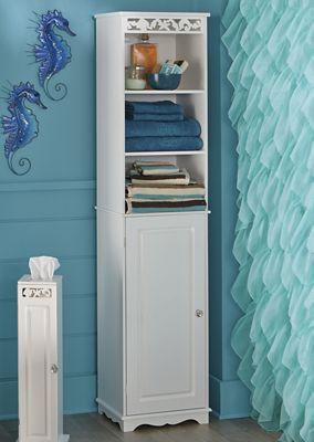 Coral Bathroom Tall Cabinet