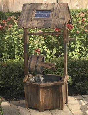 Solar Wishing Well Fountain
