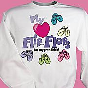 My Heart Flip Flops For My Sweatshirt