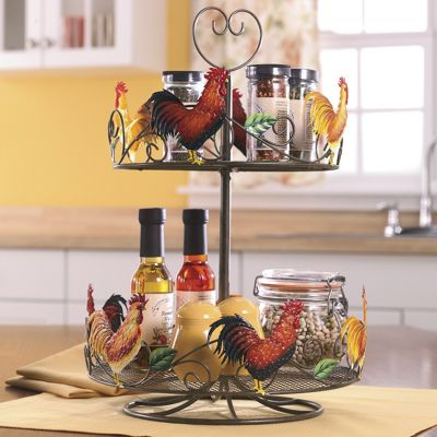 Rooster Lazy Susan