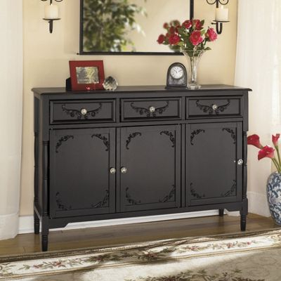 Kensington sideboard table from midnight velvet 70942 - Buffet table integree ...