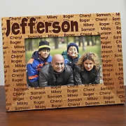 Family Name Lasered Frame