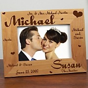 Mr. & Mrs. Wedding Laser Frame