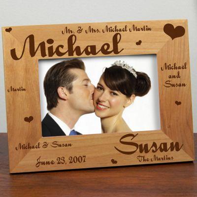 Mr. & Mrs. Wedding Laser Frame